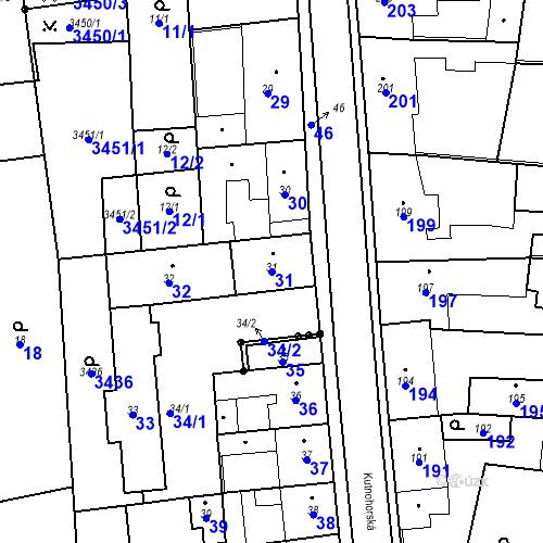 Katastrální mapa Parcela 31 na katastrálním území Kostelec nad Černými lesy