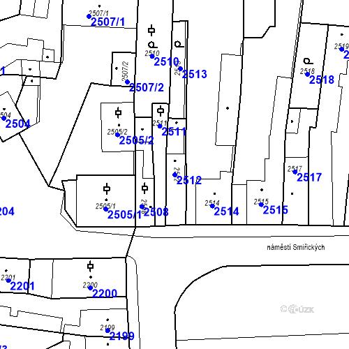Katastrální mapa Parcela 2512 na katastrálním území Kostelec nad Černými lesy