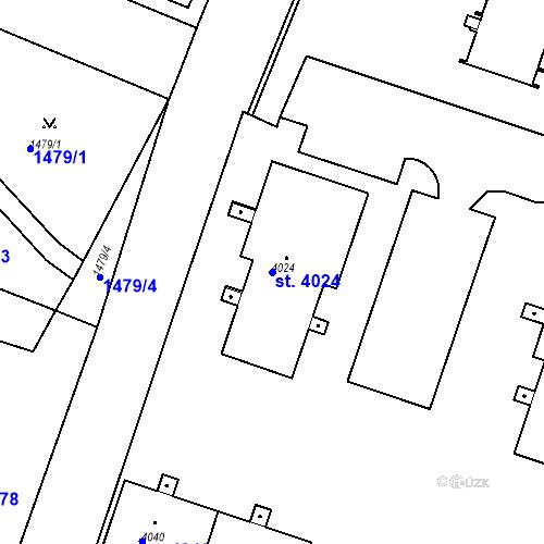 Katastrální mapa Parcela 4024 na katastrálním území Čelákovice