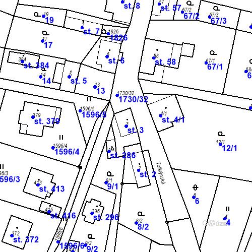 Katastrální mapa Parcela 3 na katastrálním území Jiřetín pod Jedlovou