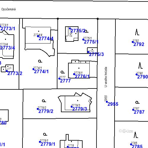 Katastrální mapa Parcela 2776/1 na katastrálním území Stará Boleslav