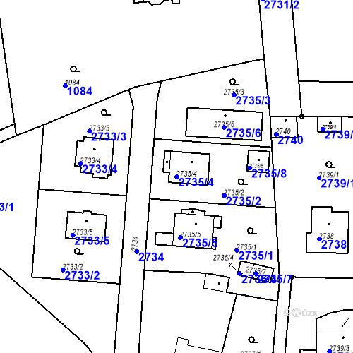 Katastrální mapa Parcela 2735/4 na katastrálním území Stará Boleslav