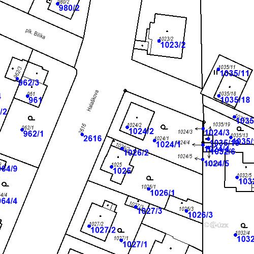 Katastrální mapa Parcela 1024/2 na katastrálním území Stará Boleslav
