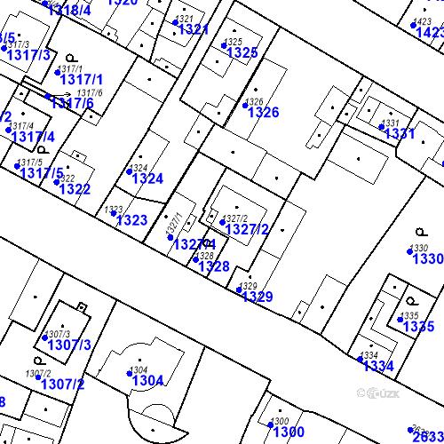 Katastrální mapa Parcela 1327/2 na katastrálním území Stará Boleslav