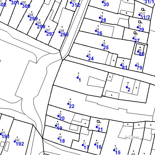 Katastrální mapa Parcela 1 na katastrálním území Česká Lípa