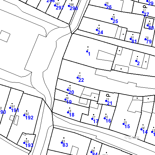 Katastrální mapa Parcela 22 na katastrálním území Česká Lípa