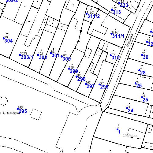 Katastrální mapa Parcela 298 na katastrálním území Česká Lípa
