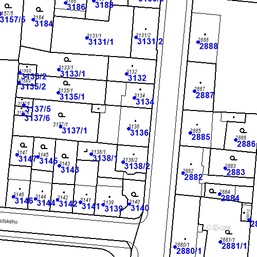 Katastrální mapa Parcela 3136 na katastrálním území Česká Lípa
