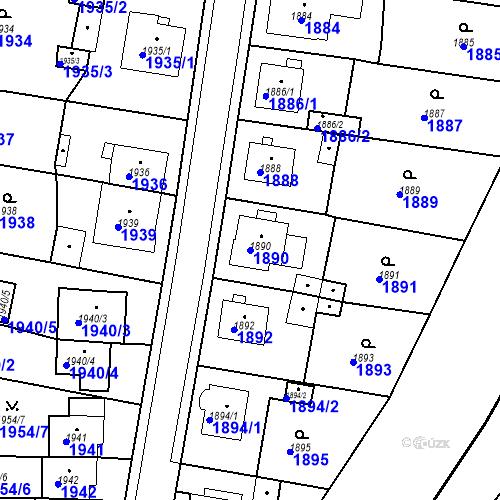 Katastrální mapa Parcela 1890 na katastrálním území Česká Lípa