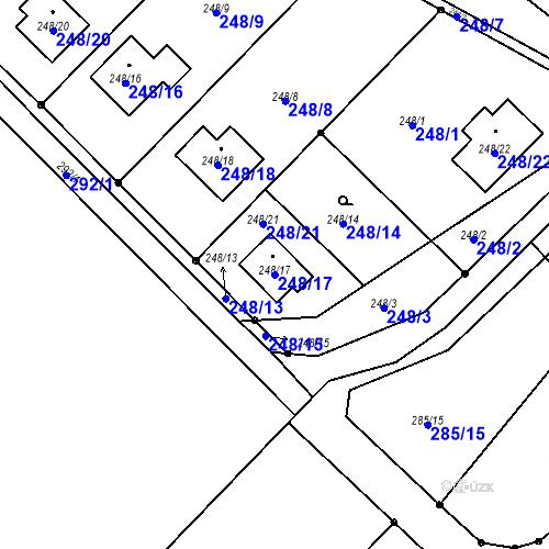 Katastrální mapa Parcela 248/17 na katastrálním území Sosnová u České Lípy