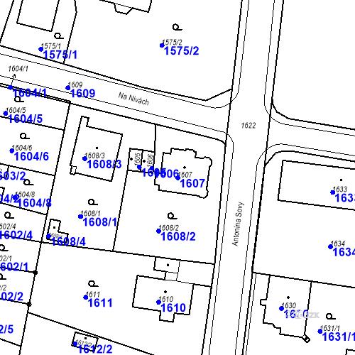 Katastrální mapa Parcela 1607 na katastrálním území Česká Lípa