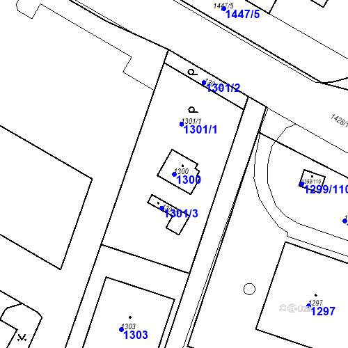Katastrální mapa Parcela 1300 na katastrálním území Česká Lípa