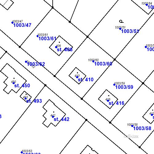 Katastrální mapa Parcela 410 na katastrálním území Horní Libchava