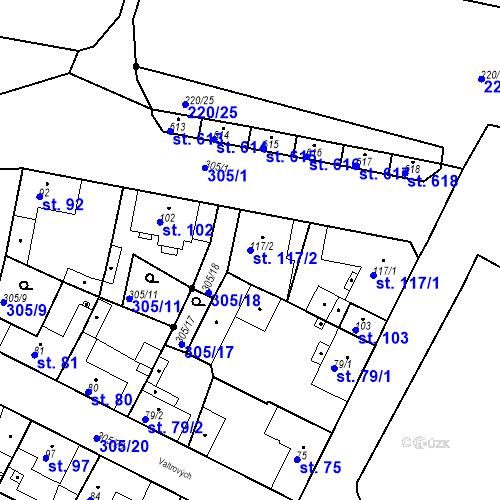 Katastrální mapa Parcela 117/2 na katastrálním území Neratovice