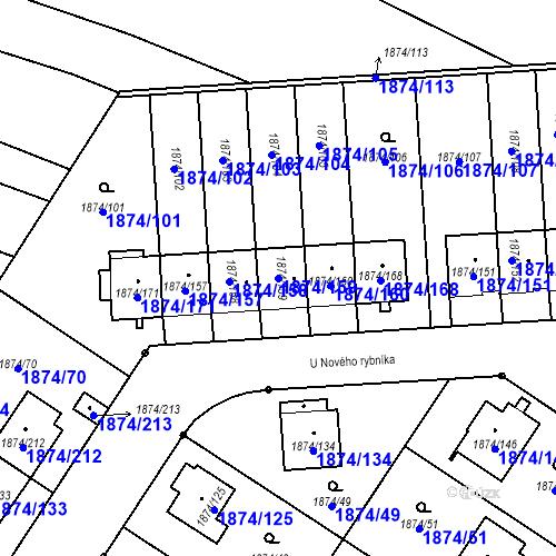 Katastrální mapa Parcela 1874/159 na katastrálním území Soběslav