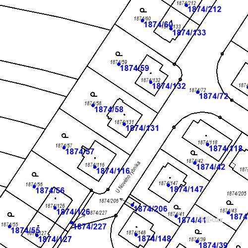 Katastrální mapa Parcela 1874/131 na katastrálním území Soběslav