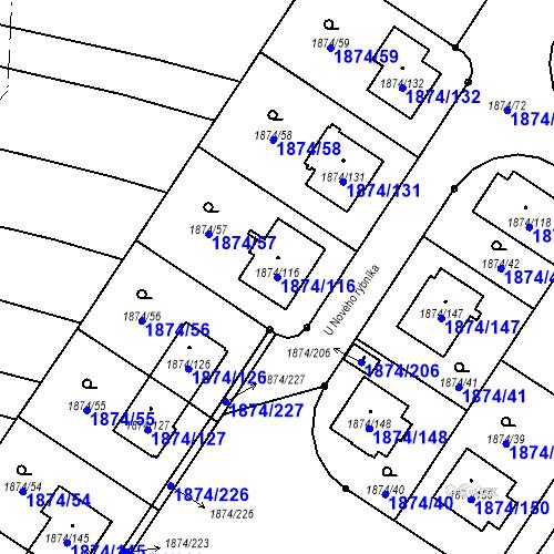 Katastrální mapa Parcela 1874/116 na katastrálním území Soběslav