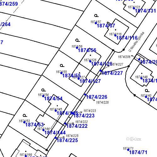 Katastrální mapa Parcela 1874/127 na katastrálním území Soběslav