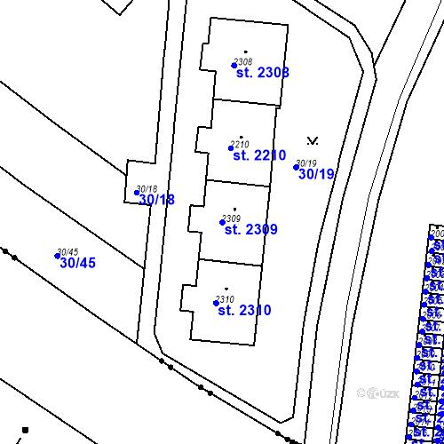 Katastrální mapa Parcela 2309 na katastrálním území Neratovice