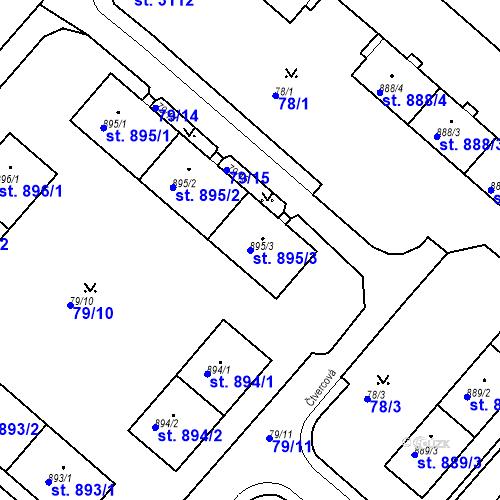 Katastrální mapa Parcela 895/3 na katastrálním území Neratovice