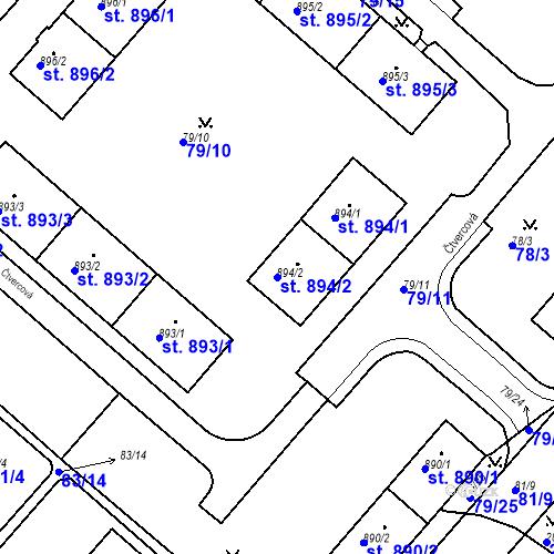 Katastrální mapa Parcela 894/2 na katastrálním území Neratovice