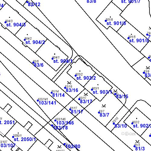 Katastrální mapa Parcela 903/2 na katastrálním území Neratovice