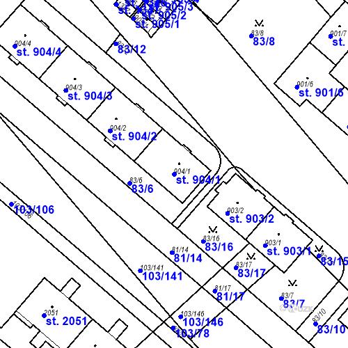 Katastrální mapa Parcela 904/1 na katastrálním území Neratovice