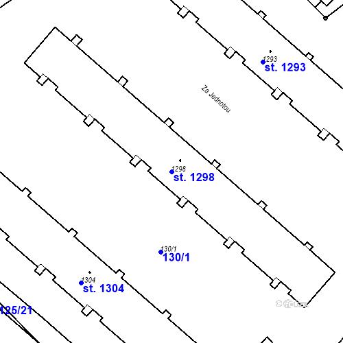 Katastrální mapa Parcela 1298 na katastrálním území Neratovice