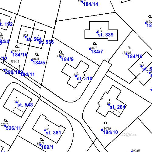 Katastrální mapa Parcela 310 na katastrálním území Herink