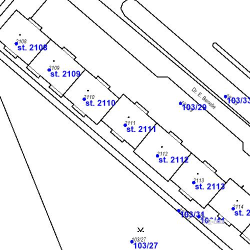 Katastrální mapa Parcela 2111 na katastrálním území Neratovice