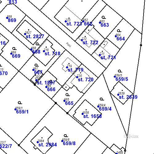 Katastrální mapa Parcela 720 na katastrálním území Neratovice