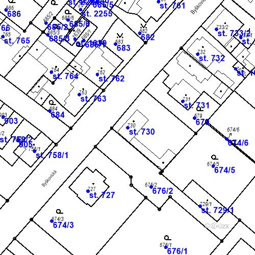 Katastrální mapa Parcela 730 na katastrálním území Neratovice