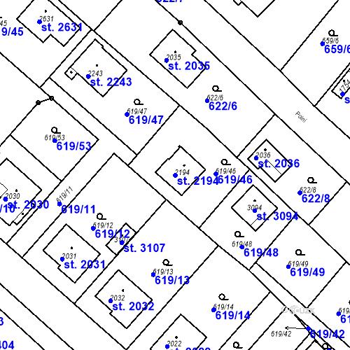 Katastrální mapa Parcela 2194 na katastrálním území Neratovice