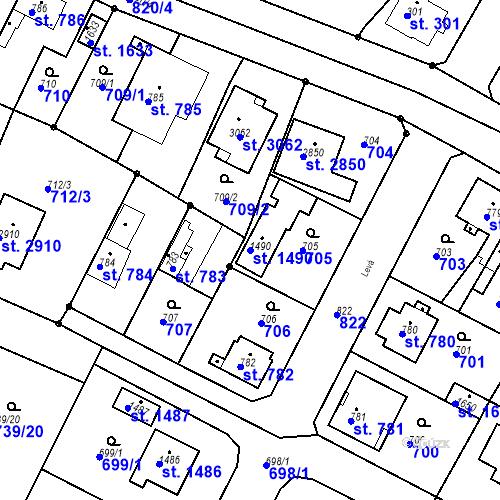 Katastrální mapa Parcela 1490 na katastrálním území Neratovice