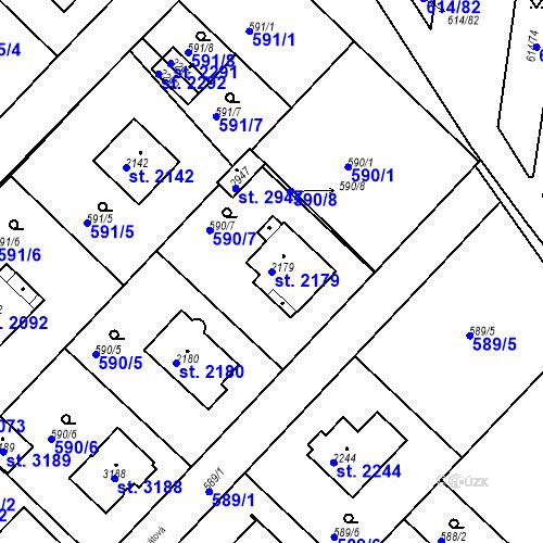 Katastrální mapa Parcela 2179 na katastrálním území Neratovice