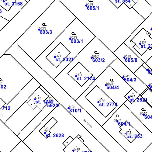 Katastrální mapa Parcela 2174 na katastrálním území Neratovice