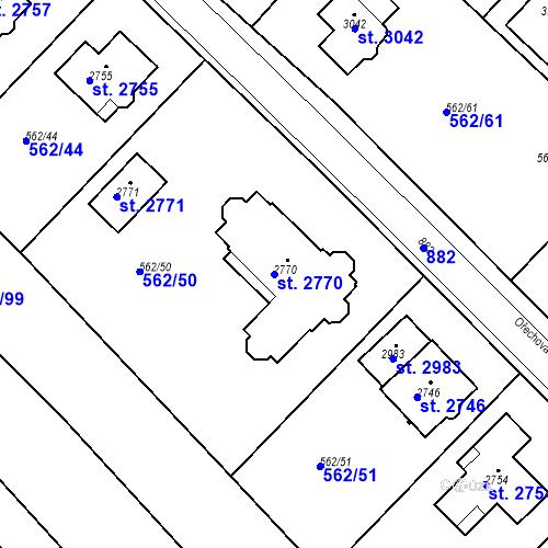 Katastrální mapa Parcela 2770 na katastrálním území Neratovice