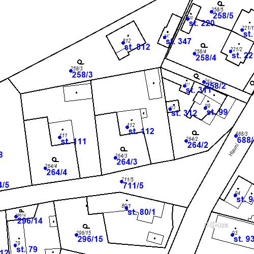 Katastrální mapa Parcela 112 na katastrálním území Osnice