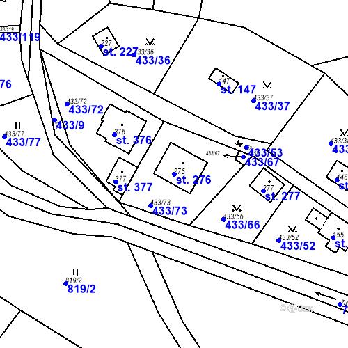 Katastrální mapa Parcela 276 na katastrálním území Osnice