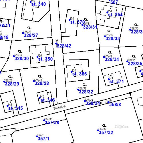Katastrální mapa Parcela 356 na katastrálním území Dolní Poustevna