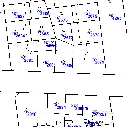 Katastrální mapa Parcela 2680 na katastrálním území Vinohrady