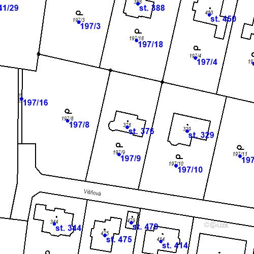 Katastrální mapa Parcela 376 na katastrálním území Dolínek