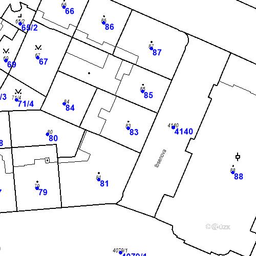 Katastrální mapa Parcela 83 na katastrálním území Vinohrady