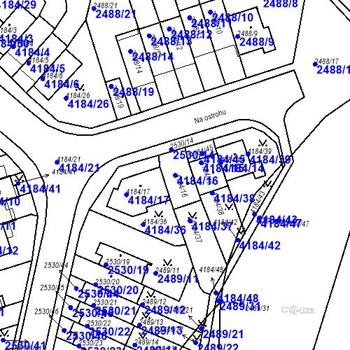 Katastrální mapa Parcela 4184/16 na katastrálním území Dejvice