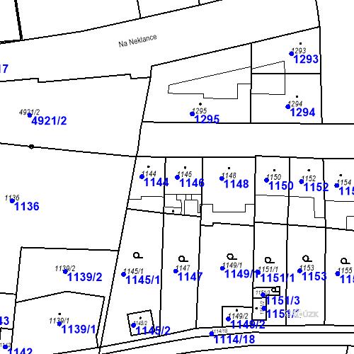 Katastrální mapa Parcela 1146 na katastrálním území Smíchov