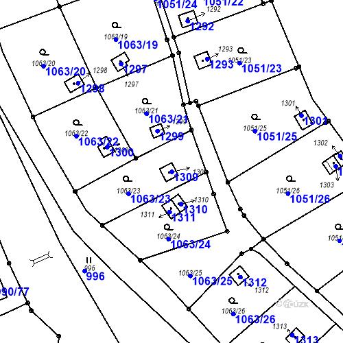 Katastrální mapa Parcela 1309 na katastrálním území Děčín-Staré Město