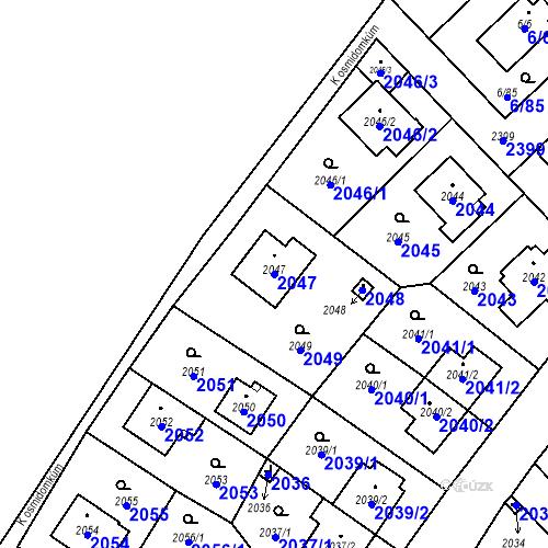 Katastrální mapa Parcela 2047 na katastrálním území Suchdol