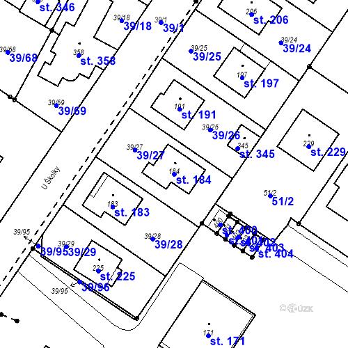 Katastrální mapa Parcela 184 na katastrálním území Borek u Českých Budějovic
