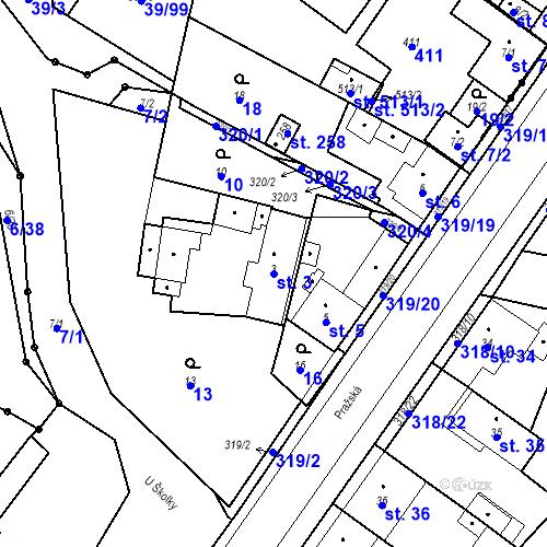 Katastrální mapa Parcela 3 na katastrálním území Borek u Českých Budějovic