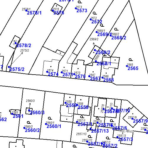Katastrální mapa Parcela 2570 na katastrálním území České Budějovice 6